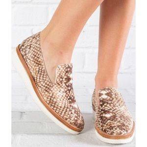 Free People Fuzzy Snake Eyes Loafers
